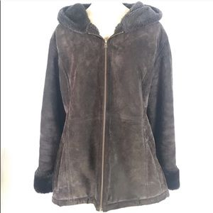 Croft & Barrow Leather Brown Coat Size 2X